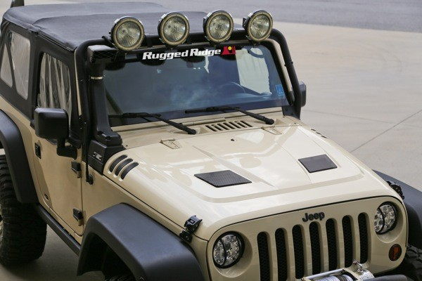Rugged Ridge Performance Vented Hood For 2007-2014 Jeep JK Wranglers
