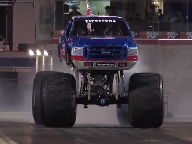 VIDEO: Bigfoot Monster Truck Takes On Jet Car In Unconventional Race