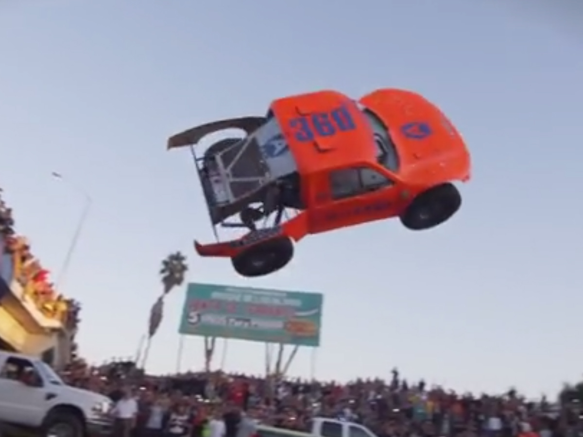 VIDEO: Adrian Cenni Does Air 360 Truck Stunt Before 2013 Baja 1000