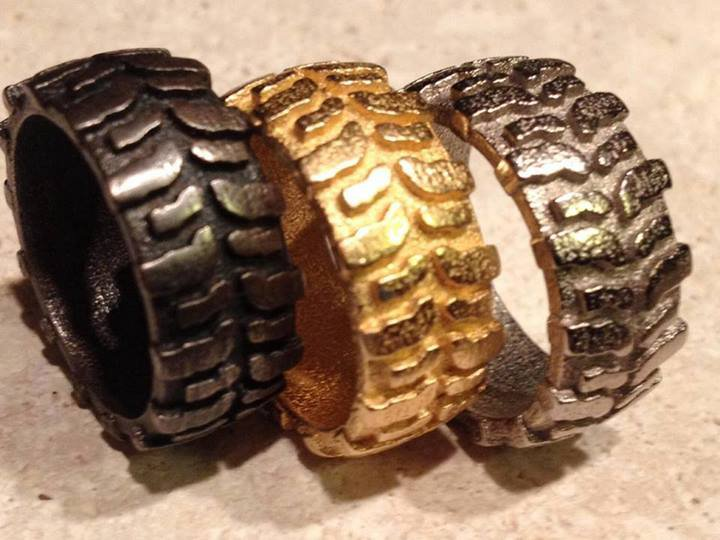 awesome off road inspired jewelry made to order by 4x4 fan off road xtreme - Mud Tire Wedding Rings