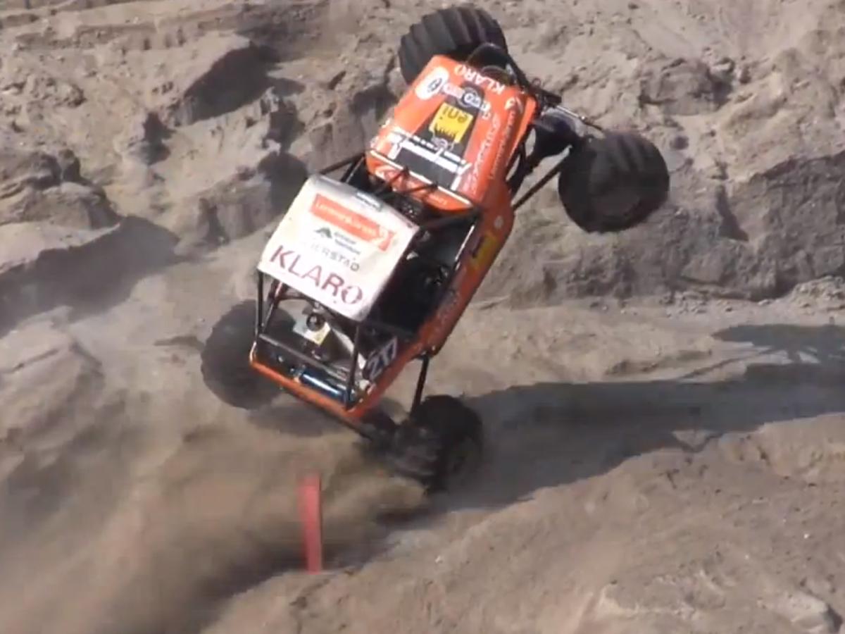 VIDEO: Turbo LS1 Formula Off Road Car Roars Up Skien Hill Climb
