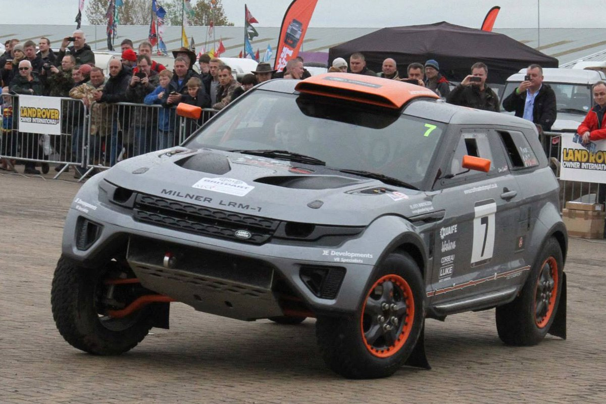VIDEO: 550 HP Range Rover Look-Alike Spices Up Off-Road Rallies
