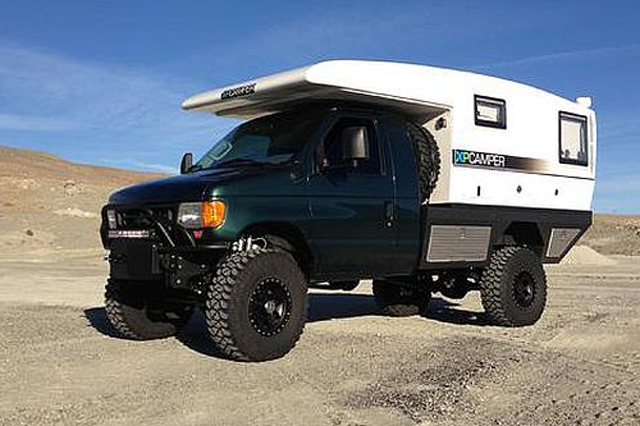 Shop Showcase: U-Joint Offroad's Project V4 4x4 Ford E-350 ...
