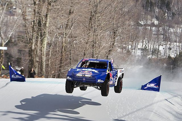 VIDEO: Pro 4 Race Trucks Hit The Snow At 2014 Red Bull Frozen Rush