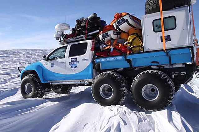 VIDEO: 6x6 Toyota Hilux Aids Skiier In Record South Pole Expedition