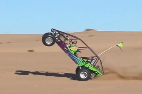 VIDEO: A Kid, A Sand Rail, And A Wicked Wheelie On The Glamis Dunes!