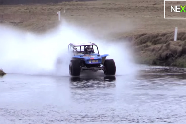 VIDEO: 1,600 HP, Paddle Tires, And An Open Stretch Of Water