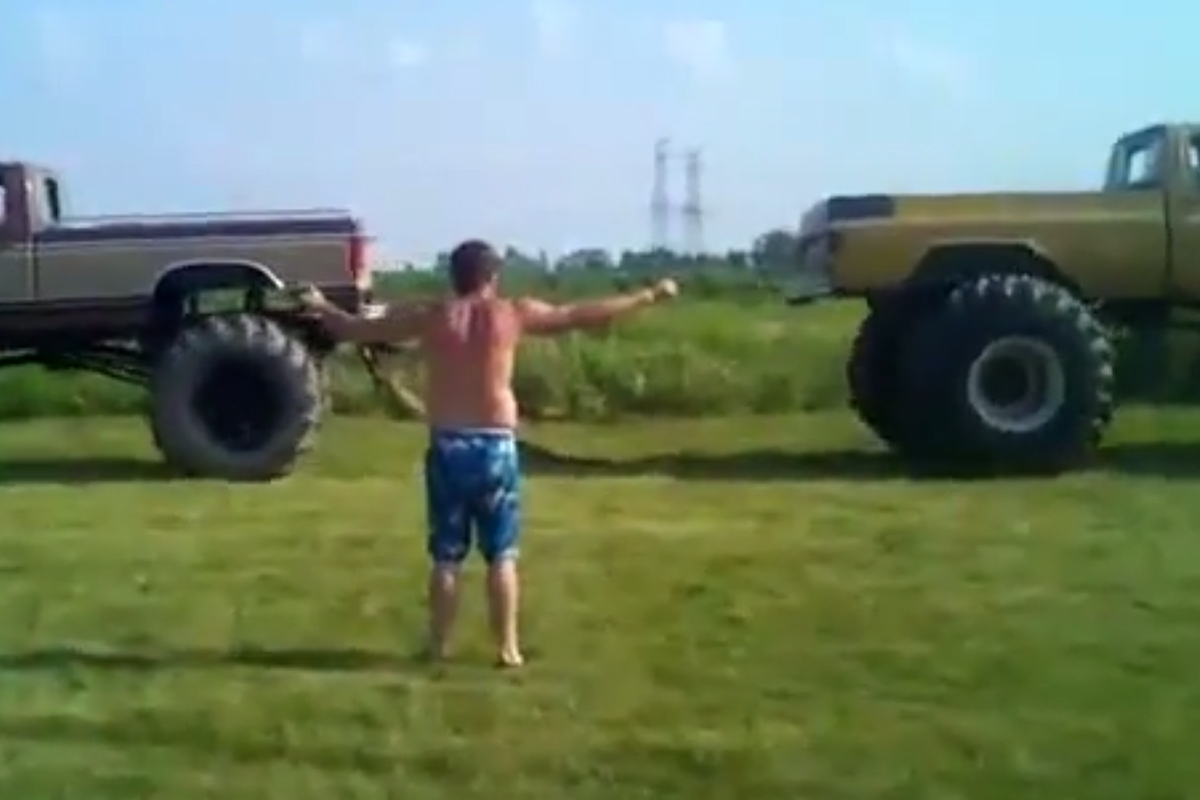 VIDEO: Redneck Tug-O-War - What Could Possibly Go Wrong Here?