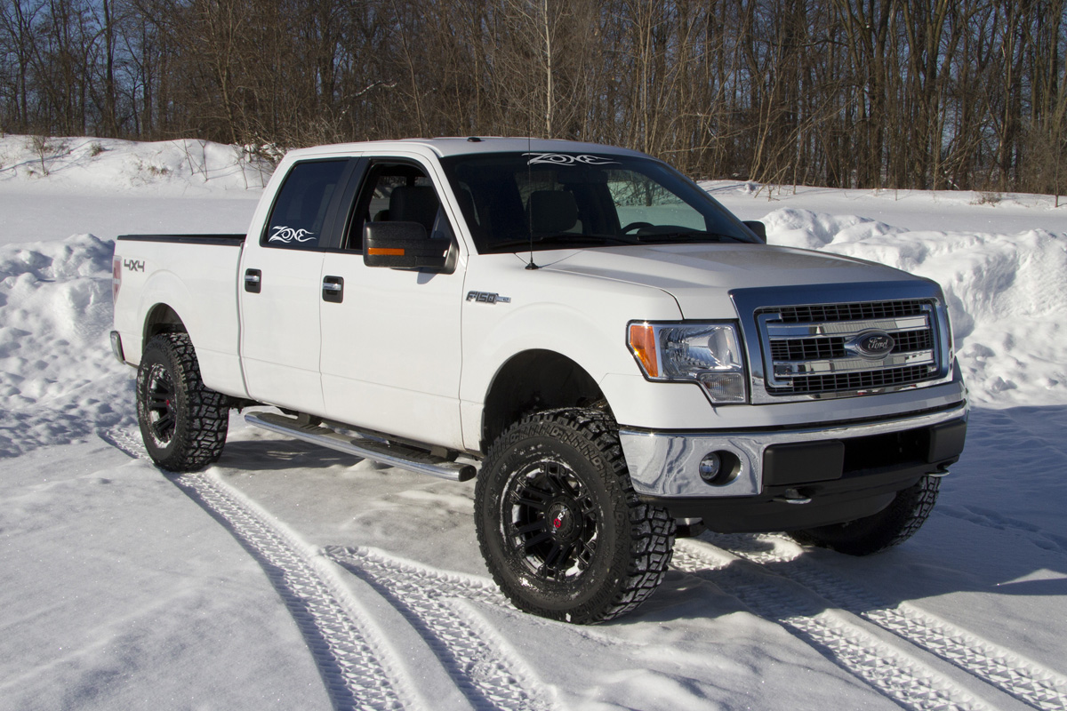 zone offroad products releases 2014 ford f150 4 inch lift kits off road xtreme. Black Bedroom Furniture Sets. Home Design Ideas