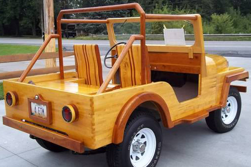 VIDEO: All Wood Jeep; It Won't Rust, But Watch Out For Termites