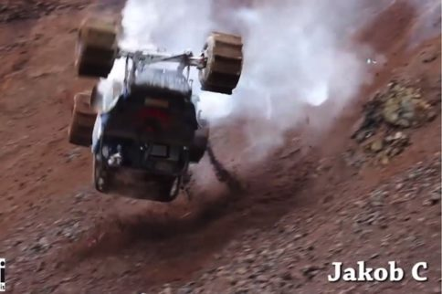 VIDEO: Detached Steering Wheel Meets Vertical Incline, Drama Ensues