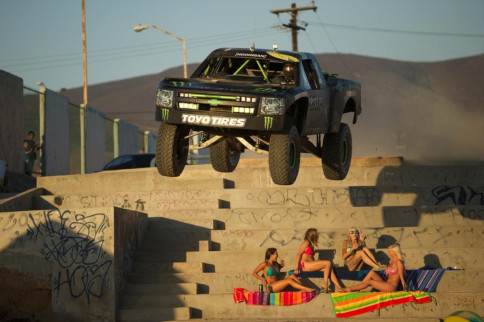 VIDEO: BJ Baldwin Hoons Ensenada In His 850 HP Chevy Race Truck!