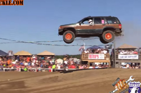 VIDEO: This Grand Cherokee Takes Flight, Comes Down HARD