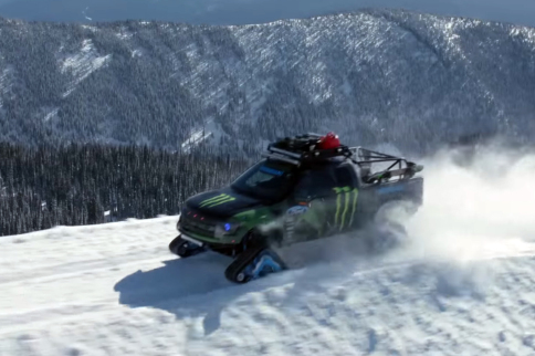 VIDEO: Ken Block Shreds The Snow In His 2014 Ford RaptorTrax Truck