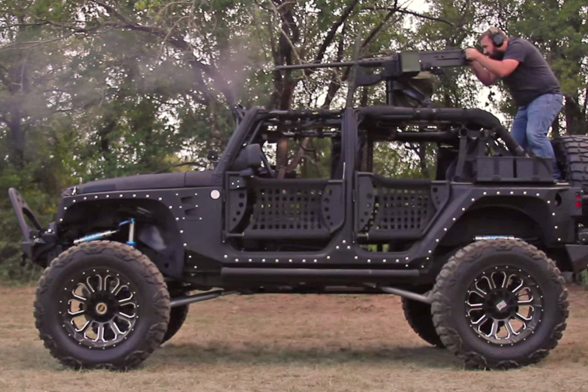 Jeep Wrangler Diesel >> VIDEO: Custom Starwood Jeep With 50 Cal On Top Will Blow You Away! - Off Road Xtreme