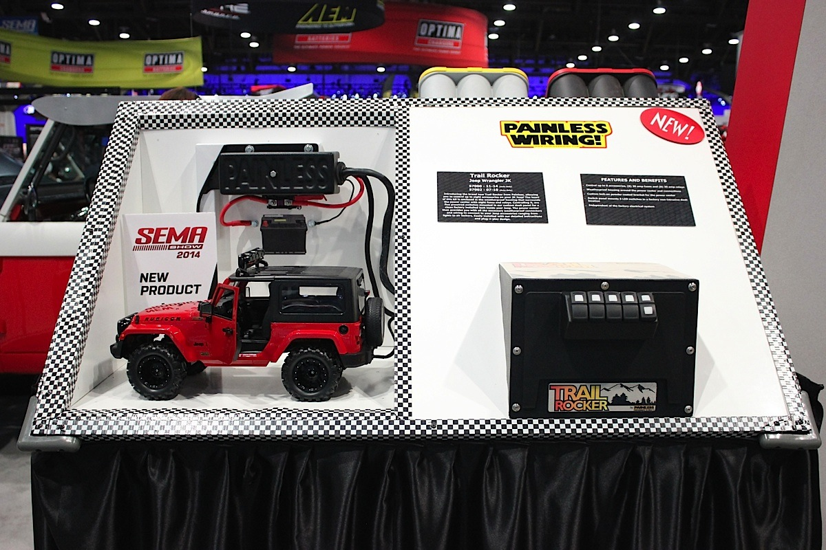 Sema 2014 Painless Performance Shows Off Chevy Jeep Electronics Wiring Tj To Sound Systems Winches Should Find The Trail Rocker More Than Capable Of Fixing Their Problems And Love Confirmed That Is Working On A