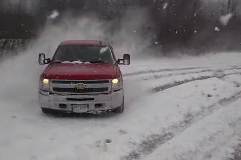 """Video: Taking A 2013 Silverado Out For Some """"Winter Drifting"""""""