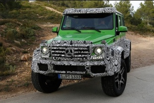 Mercedes G63 Prototype Spotted In Crazy Hulk Green