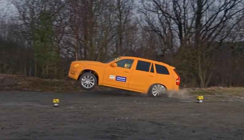 Video: Volvo Testing Run-Off Ditch Crash Tests