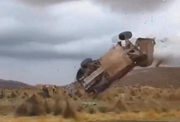 Video: Huge Crash At Dakar Rally 2015