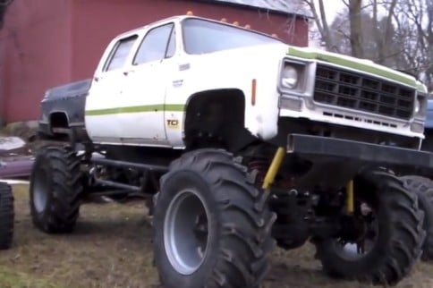 Video: LSX Turbocharged Chevy Mud Truck at Play