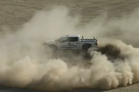 Video: Watch A Toyota Race Truck and F-150 Tear Up Ocotillo Wells