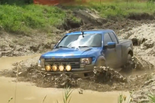 Video: See A Stock Ford Raptor Mud Bog With The Big Boys