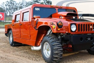 Video: Watch This Beast of a 3,000 hp Hummer Drag Race