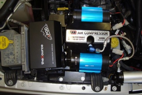 M.O.R.E's Versatile Jeep Compressor Bracket Works With sPOD Unit