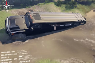 Video: SpinTires Mod Drops H3 Stretch Limo Into Muddy Playground