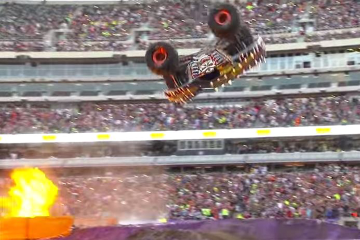 Video: Monster Truck Max-D Front-Flip Fails At Monster Jam
