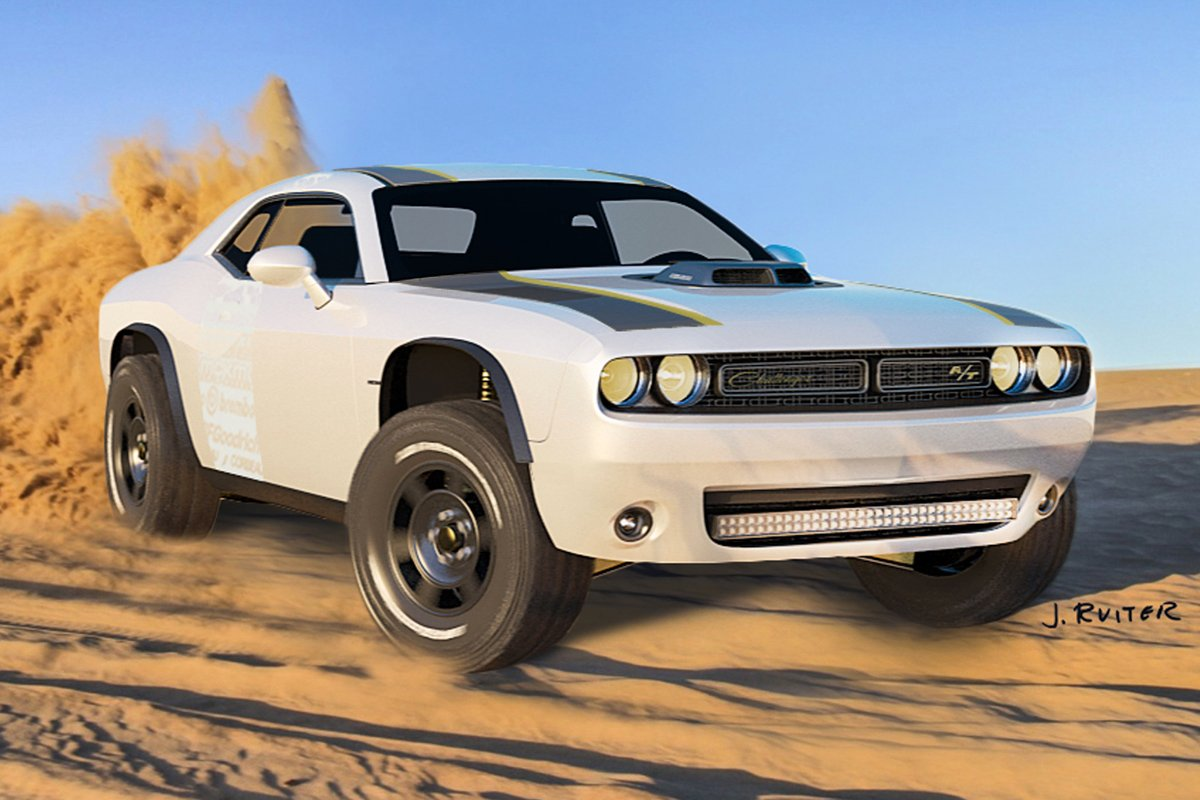 offroad muscle the dodge challenger at unlimited