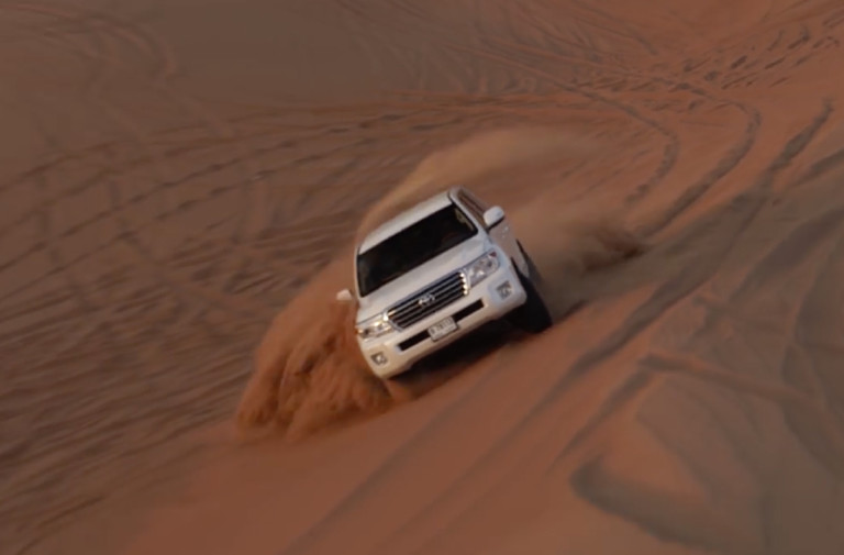 Flipping Off Physics With A Land Cruiser