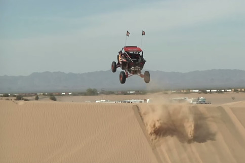 FMX Rider In UTV Takes On Glamis Sand Dunes
