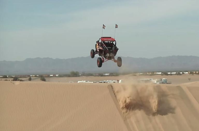 FMX Rider In UTV Takes On Glamis Sand Dunes