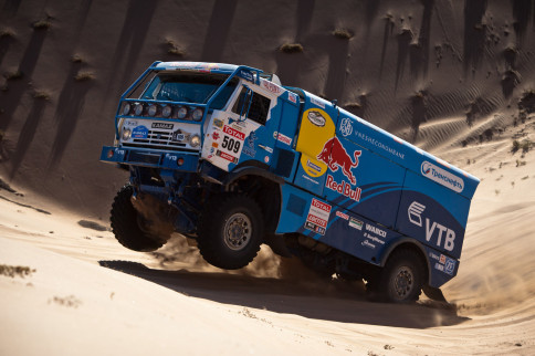 Video: Dakar Rally T4 Truck Looks Out Of Place At Goodwood Revival