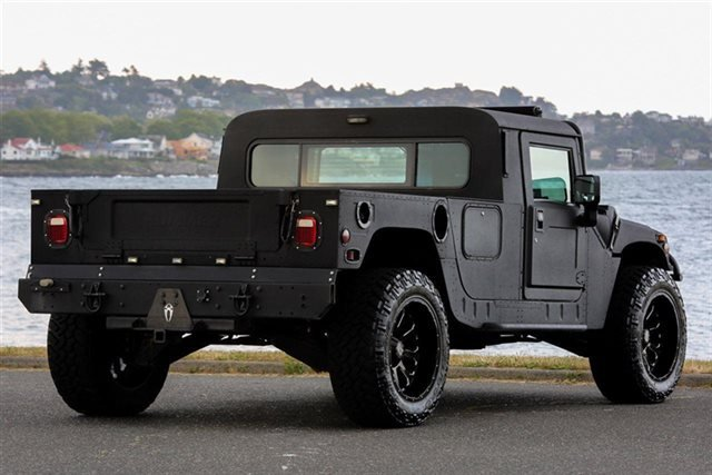 But If You Fancy Yourself A More Practical Less Famous Arnold Schwarzenegger Type Then This Blacked Out Two Penger Hummer H1 Might Be The Chariot For