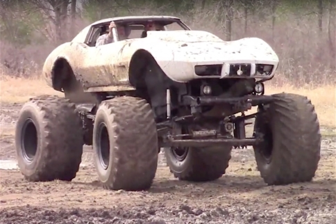 Video: Mud-bogging C3 Corvette Will Make Purists Cringe