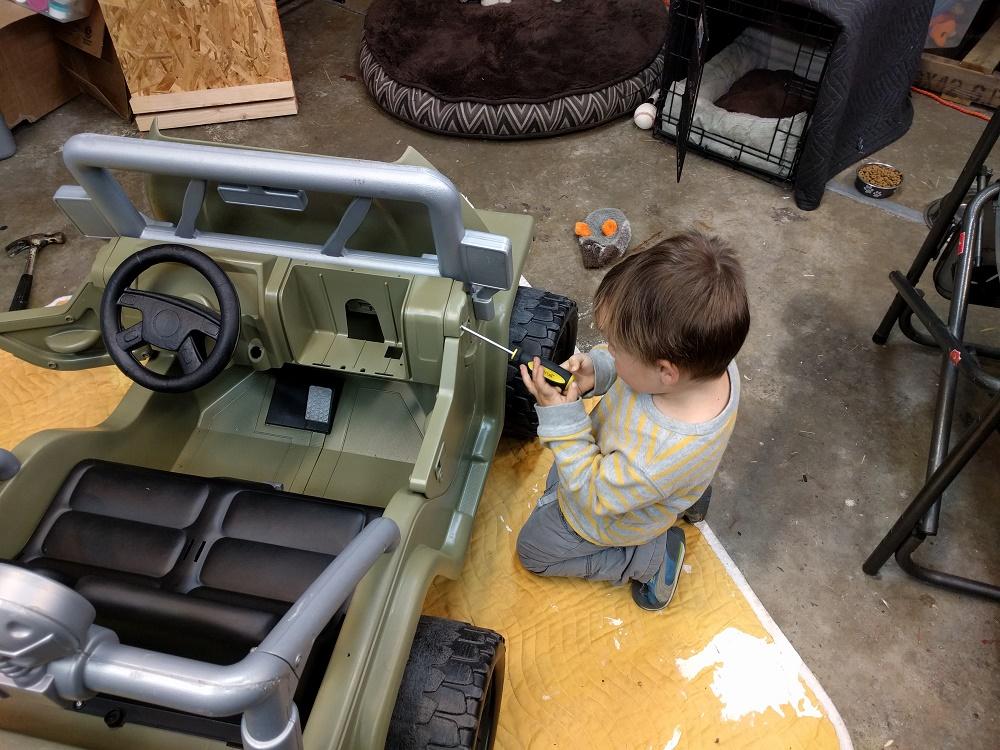 Jeep Power Wheels Restoration Builds Father-Son Bond