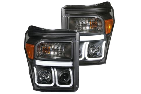 AnzoUSA Debuts U-Bar Projector Headlights For 2011-16 Super Duties