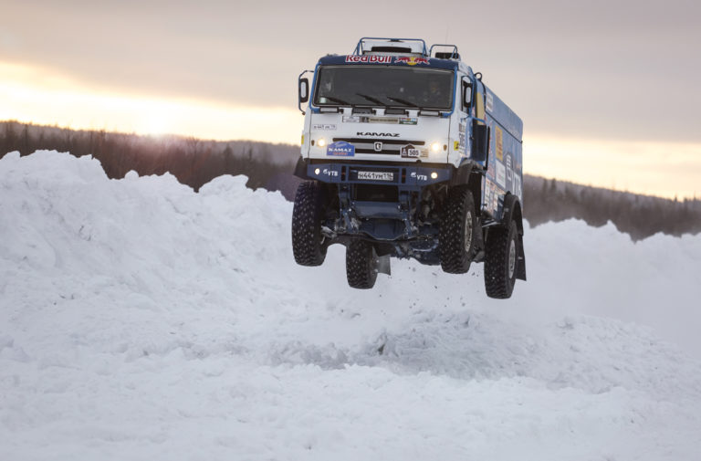 Red Bull KAMAZ Race Truck Gets Wild In The Snow