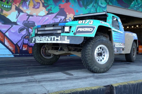 Video: Brenthel Industries Brings A Trophy Truck To Donut Garage