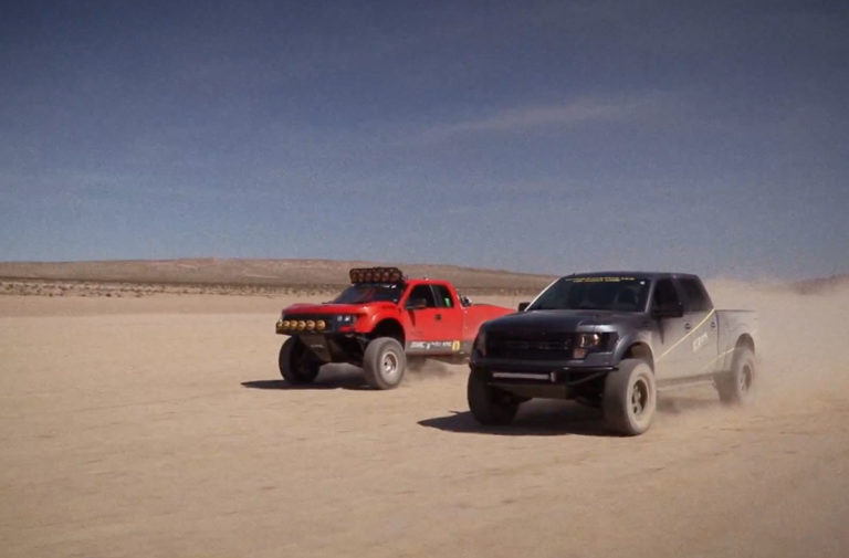 Video: Ford Raptors With Falken Tires Rip Through the Desert