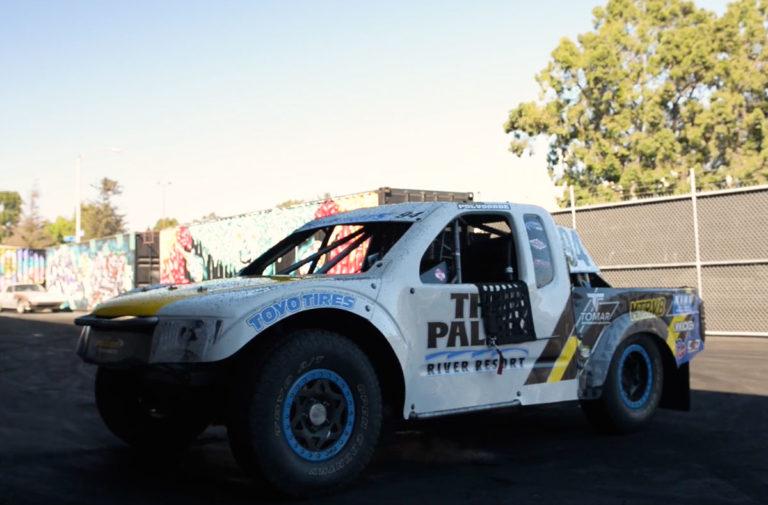 Video: 500 Horsepower ProLite Truck Destroys Tires On Donut Garage