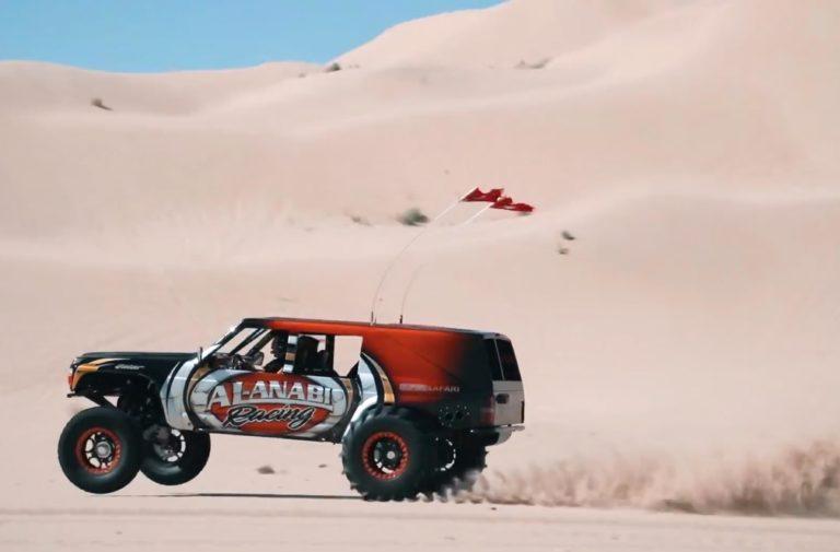Wheelie Monster: Joe Fab's Rear Engined Nissan Patrol