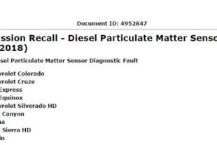 GM Is Voluntarily Recalling Diesel Vehicles In The US
