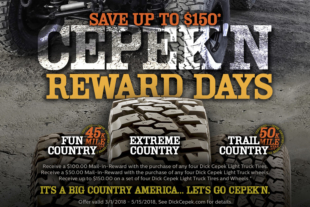 Deals For Days: Dick Cepek Reward Days Are Back