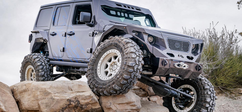 Jeep Wrangler Rubicon Lifted >> Fab Fours and MarsFab Build a Custom Lifted Wrangler JL