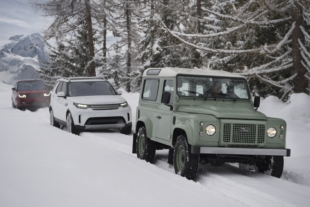 Land Rover Defender Outline in Snow Marks Brand's 70th Anniversary