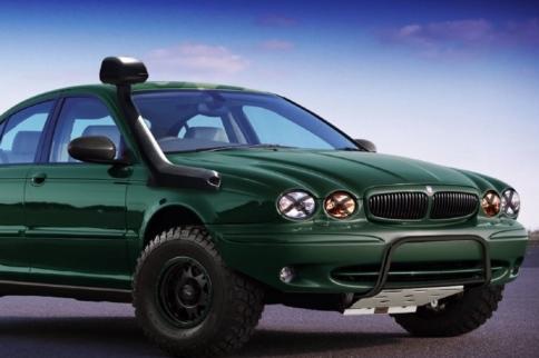 "Video: Car Throttle's Jaguar X-Type Becomes A ""Mud Type"", Pt. 1"